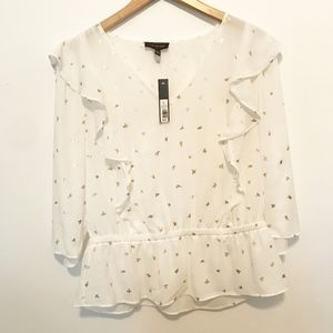 The Limited Whimsical Flight Blouse Large White